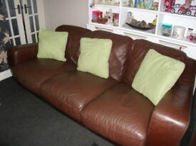 2 LOVELY LEATHER SOFAS