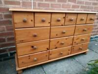 Pine large chest drawers