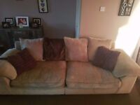 4 seat sofa! Beige and brown!