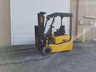 2013 Yale Erp040vtn Electric 3-wheel Forklift Wside Shift Fork Positioner