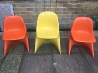Fab child size retro vintage chairs. Like Eames or Panton.