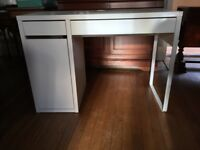 Ikea white desk and chair - priced separately