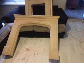 Stone fireplace and backplate
