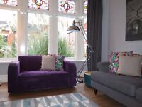Purple NEXT Chenille 2 Seater Sofa