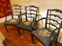 Dining chairs 6 Carvers
