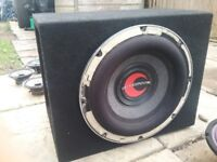 1400w sub in a box 800kenwood amp a 275wamp 2fury subs and 7 speakers