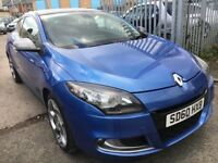 RENAULT MEGANE 2.0 TCE GT COUPE PETROL MANUAL 2010 PANORAMIC HALF LEATHER 2 OWNERS SATNAV TOMTOM
