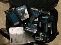 Brand new makita combi drill 18v set