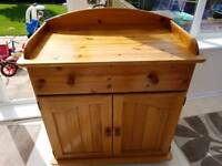 Solid pine baby change unit. FREE DELIVERY IN HARTLEPOOL AND SEATON CAREW