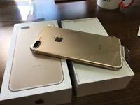 iPhone 7 plus 32gb unlocked gold less than a day old so basically brand new