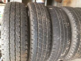 4 x ldv transit 185/14 commercial michelin wheels