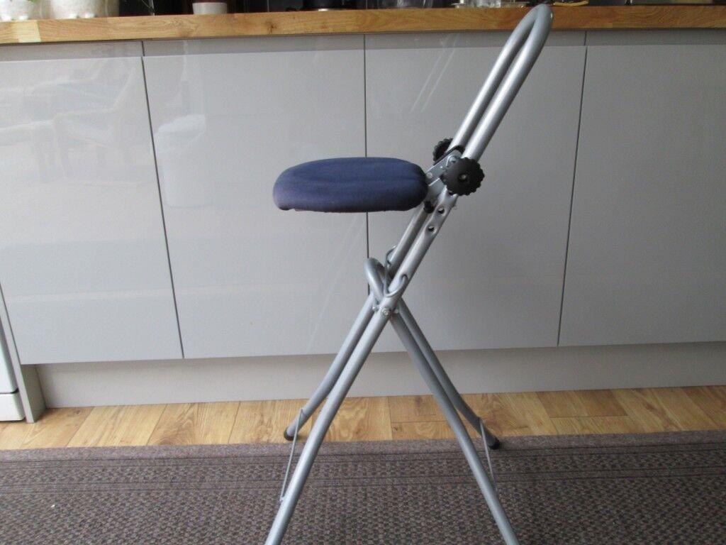 Super Folding Perching Stool In Mundesley Norfolk Gumtree Machost Co Dining Chair Design Ideas Machostcouk