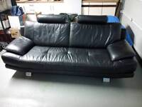 DFS Full leather. 3 seater sofa