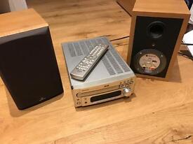 DENON cd receiver RCD-M35DAB plus speakers