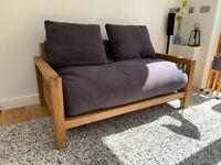 Futon Company - Oke - 2 Seater - Solid Oak - Sofa Bed