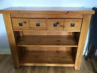 Lovely solid wood sideboard, cd cabinet, TV table, coffee table from Next