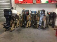 14 OUTBOARD BOAT ENGINES JOB LOT FOR BREAKING SUZUKI JOHNSON MERCURY EVINRUDE