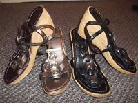 2 pairs of wedge sandals size 6 .£3.00 a pair