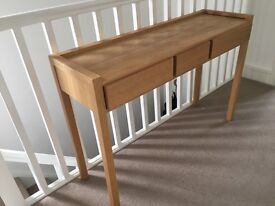 Habitat oak console table in excellent condition.