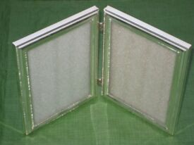 Metal and Glazed Twin Photograph Frame for £5.00