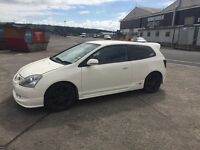 Car sold car sold car sold 2004 Honda Civic type r for parts or repaire