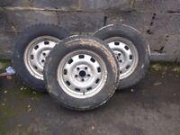 Vw transporter 195 70 r15c wheels