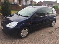 Ford Fiesta 1.2. Full Mot today. Only 62,000 genuine miles. Brand new clutch. Drives as new.