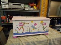 wooden Toy Box/Chest Soft Close + Toys