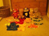 Build a bear bundle bears panda rabbit Frozen Anna shoes clothes and baby carrier
