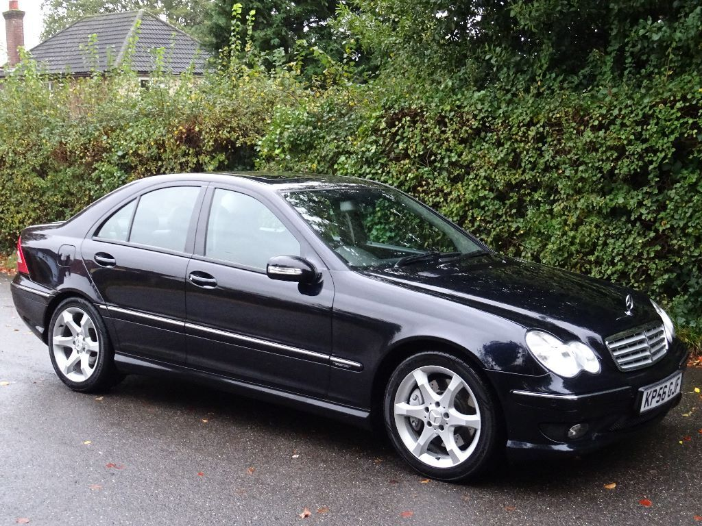 2006 mercedes benz c class 2 5 c230 sport 4dr manual full black leather navigation. Black Bedroom Furniture Sets. Home Design Ideas