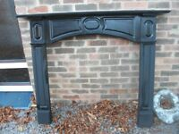 WOODEN ORNATE FIREPLACE SURROUND BLACK BUT CAN BE PAITED TO CHOICE