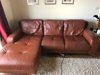 Used DFS real leather corner sofa
