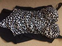 Black white size 18. Ladies swimsuit