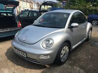 VW Beetle 1.6 in silver lovely low mileage example very clean car