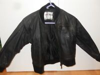 kids black leather bomber jacket