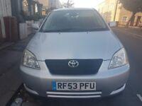 Toyota Corolla T3 VVTI 12 months MOT