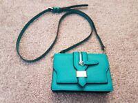 Turquoise Aqua Green Small Cross Body Handbag Bag