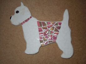Handcrafted Mosaic West Highland Terrier
