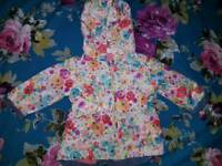 Baby girl floral raincoat 0-3 months