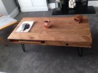 Solid wood scandi coffee table