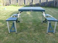 camping table and 4 seats