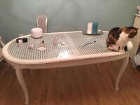 Shabby chic Louis Style vintage retro dining table