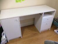 Calgary Office desk with file drawer and sliding keypad shelf