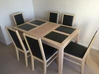6 seater dining room and chairs