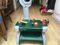 Children's work bench with accessories. Suitable for toddlers