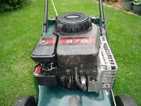 "Hayter Hawk 16"" lawnmower (Push model)."
