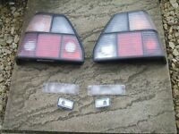 Mk2 golf clear rear lights/side repeaters/front bumper indicators