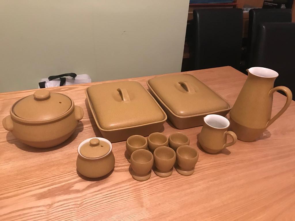 JOB LOT Denby ode pottery 1967 - 1977 ** 12 piece set**