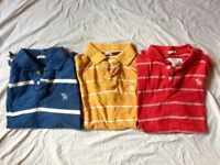 3x Abercrombie and Fitch polo shirts