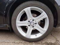 "Mercedes benz cls s c e klass 18 "" alloys set of 5 good condition volkswagem seat skoda audi"